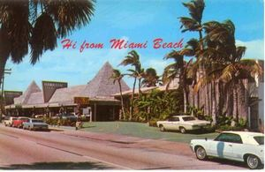 Early postcard from Hawaiian Isle in Miami Beach