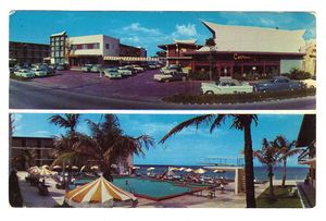 Early postcard from The Castaways in Miami Beach