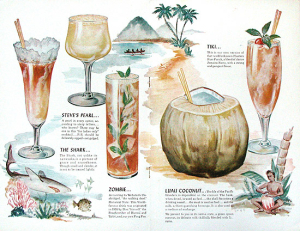 Interior of a menu from The Luau