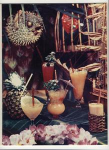 Picture from a mens' magazine article about tropical drinks at The Luau in Beverly Hills