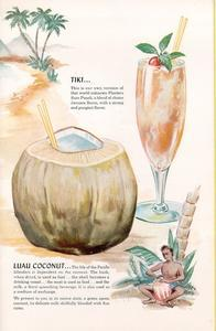 Drink menu from the Luau in Beverly Hills