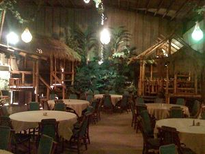 Rear banquet room (the Hidden Village) at Don the Beachcomber in Huntington Beach