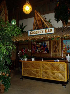 The Coconut Bar in the Hidden Village at Don the Beachcomber in Huntington Beach