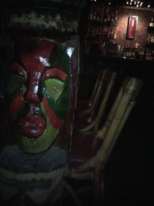 Tiki in the Dagger Bar at Don the Beachcomber in Huntington Beach