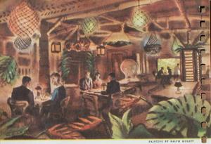 Artist's rendering at Don the Beachcomber in Hollywood
