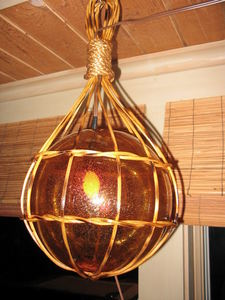Light fixture made by Tikiskip for The 'Ohana Be Gonna Lounge in Columbus