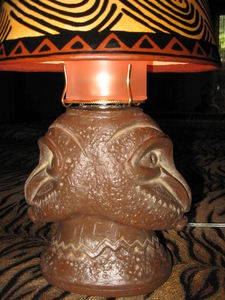 Lamp made by Tikiskip for The 'Ohana Be Gonna Lounge in Columbus