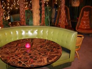 Avocado booth at Mai Kai Lounge in Tecumseh