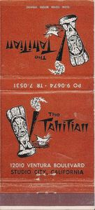 Matchbook from The Tahitian in Studio City