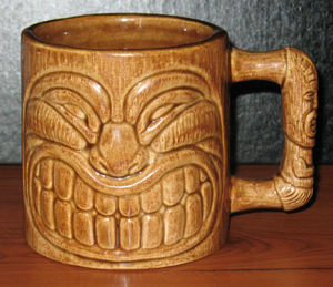 Souvenir tiki mug from La Mariana Sailing Club in Honolulu