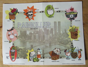 The drink menu from Painkiller in New York