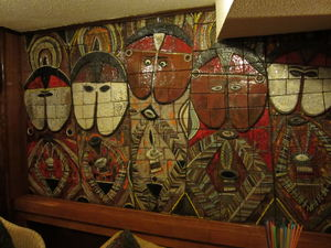 Tile mural at Bora-Bora in Madrid