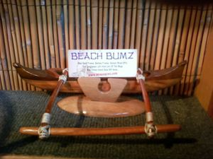 Business card holder at Beach Bumz in Kihei