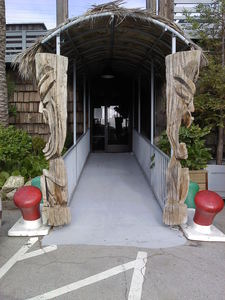 Entrance to The Waterfront Restaurant in Redwood City