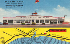 Postcard from Sam's Seafood in Huntington Beach