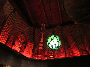 Ceiling decor at Tiki No in North Hollywood