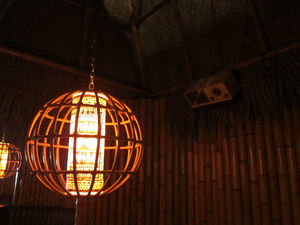 Lamp and vintage radio at Tiki No in North Hollywood