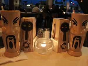 Drinks in tiki mugs at Hula's Modern Tiki in Phoenix