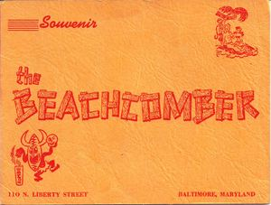 Photo folder from Monte Proser's Beachcomber in Baltimore