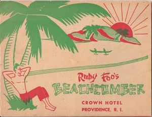 Photo folder from when Monte Proser's Beachcomber in Providence became Ruby Foo's Beachcomber