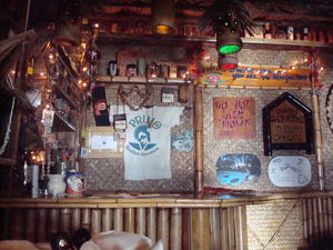 Bar in the back of the store at Bamboo Ben in Huntington Beach