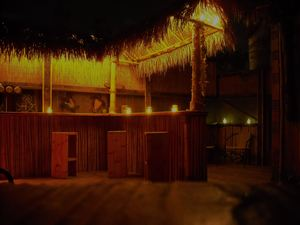 A residential tiki bar created by Bamboo Ben of Huntington Beach