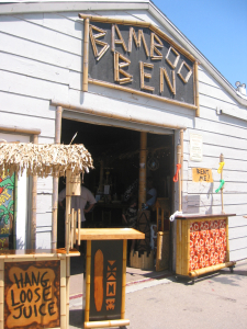 The entrance to Bamboo Ben's in Huntington Beach