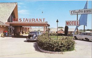 Postcard from Clayton House Motel, which housed Outrigger Club in Ardmore