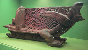 Maori canoe prow at American Museum of Natural History in New York