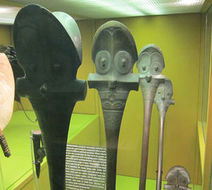 Marquesan war clubs at American Museum of Natural History in New York