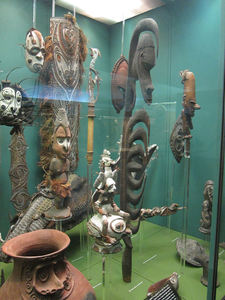 Items from Papua New Guinea at American Museum of Natural History in New York