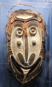 Papua New Guinea mask at American Museum of Natural History in New York