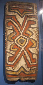 Papua New Guinea shield at American Museum of Natural History in New York