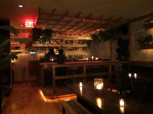 The upstairs bar at Lani Kai in New York
