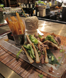 Duck club sandwich at The Hurricane Club in New York