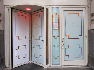 The entrance to The Hurricane Club in New York