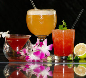 Special drinks at Okolemaluna Tiki Lounge in Kailua-Kona