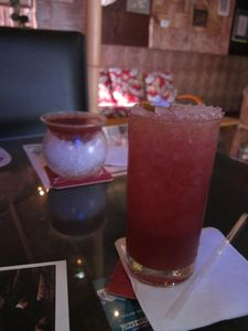 The Pahoehoe comes with a flaming lime garnish at Okolemaluna Tiki Lounge in Kailua-Kona