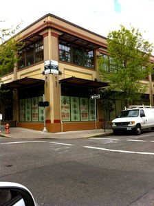 "Exterior of building, with ""Coming Soon"" signage, at Trader Vic's in Portland"