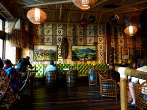 Dining area at Trader Vic's in Portland