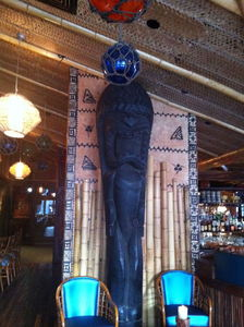 Tall tiki at Trader Vic's in Portland