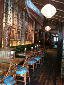 Seating area at Trader Vic's in Portland