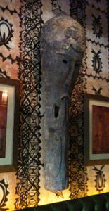Carving at Trader Vic's in Portland