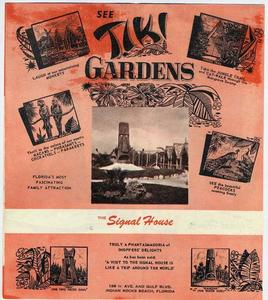Early brochure from Tiki Gardens in Indian Rocks Beach
