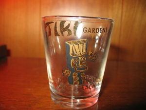 Shot glass from Tiki Gardens in Indian Rocks Beach