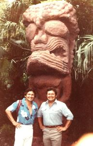 Vintage photo of early '80s visitors to Tiki Gardens in Indian Rocks Beach