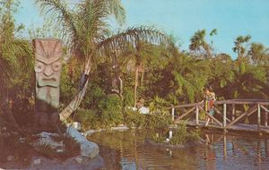 Postacard from Tiki Gardens in Indian Rocks Beach