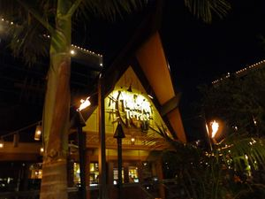A-frame entrance to Tangaroa Terrace in Anaheim