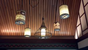 Lighting at Tangaroa Terrace in Anaheim