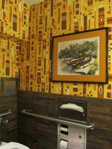 Ladies' room at Trader Sam's Enchanted Tiki Bar in Anaheim